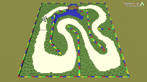 Super Mario Kart's Donut Plains, built by Sphenicus and seen in November 2016