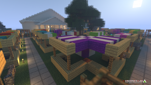 A colorful marketplace in Celzibar, built by MaximumRose.